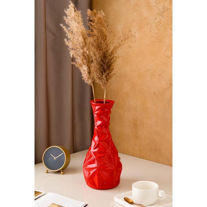 "Ваза настольная ""Монако"", красная, керамика, 34 см - фото 1434738"