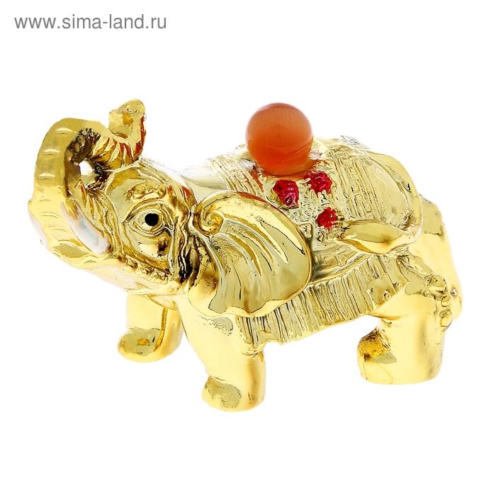 """Нэцкэ под золото """"Слон с жемчужиной"""" (стабильность и устойчивость)"""