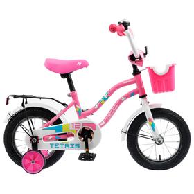 """Велосипед 12"""" Novatrack Tetris, 2020, цвет розовый"""