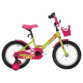 """Велосипед 12"""" Novatrack Twist, 2020, цвет салатовый"""
