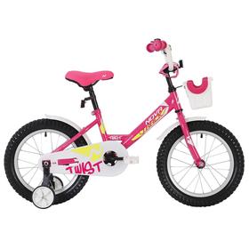 """Велосипед 12"""" Novatrack Twist, 2020, цвет розовый"""