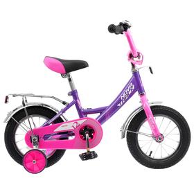 """Велосипед 12"""" Novatrack Vector, 2020, цвет лиловый"""