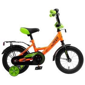 """Велосипед 12"""" Novatrack Vector, 2020, цвет оранжевый"""