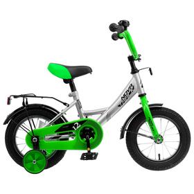 """Велосипед 12"""" Novatrack Vector, 2020, цвет серебристый"""