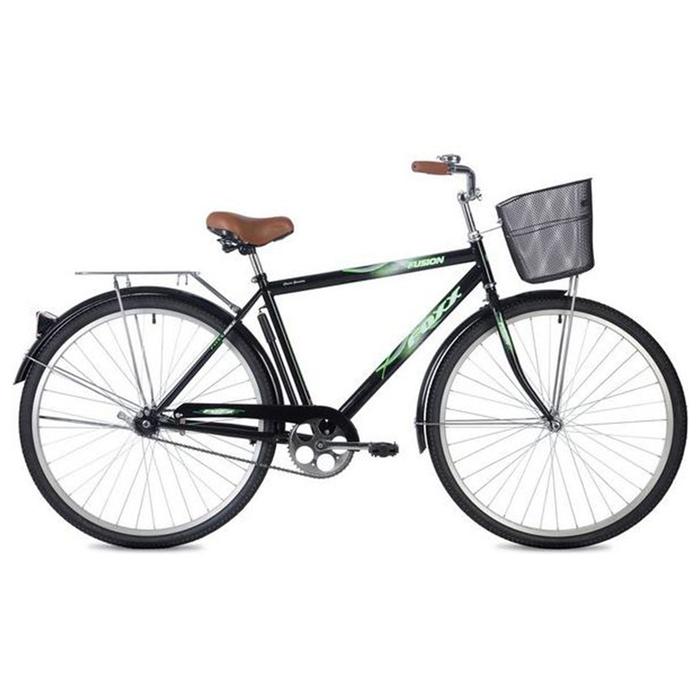 """Велосипед 28"""" Foxx Fusion, 2020, цвет чёрный, размер 20"""""""