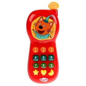 Игрушка «Музыкальный телефон» 7 песен из мультфильма, телефон фразы и звуки, свет