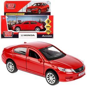 Машина металлическая Honda Accord, цвет красный, 12 см, открывающиеся двери, инерция