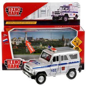 """Машина металл """"УАЗ Hunter полиция"""", 12 см, свет+звук, открыв. двери, инерц. HUNTER-P-SL"""