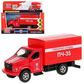 Машина металлическая ГАЗ Газон Next пожарная машина, 14,5 см, открывающиеся двери, инерция