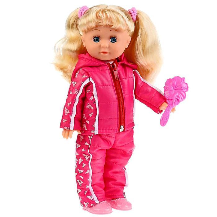 Кукла озвученная «Наташа в спортивном костюме» 32 см,100 фраз, музыка «Волшебный цветок»