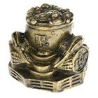 """Нэцкэ под бронзу """"Жабы на Ба-гуа с чашей изобилия и символами богатства"""""""