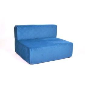 Диван - модуль «Тетрис», размер 100 х 80 см, синий, велюр
