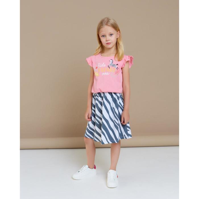 "Платье для девочки KAFTAN ""Safari"" р.34 (122-128), розовый - фото 76351411"