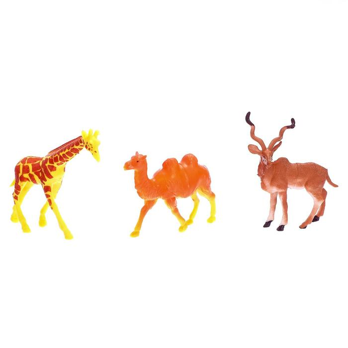Набор животных «Сафари», 6 шт. - фото 105500307