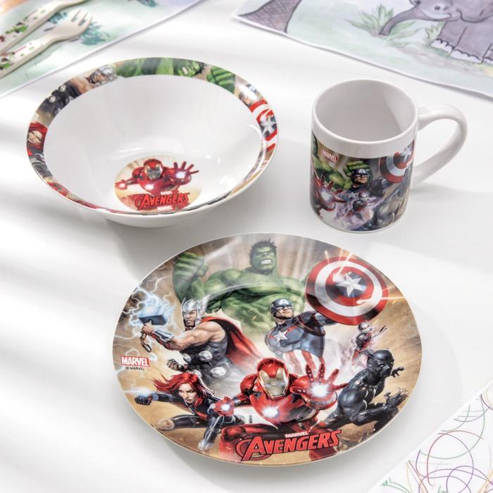Набор посуды «Мстители. Пыль», 3 предмета - фото 490171