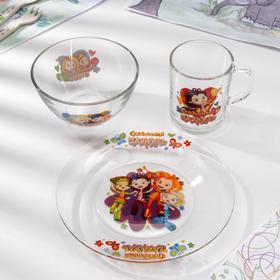 Набор посуды «Сказочный патруль», 3 предмета
