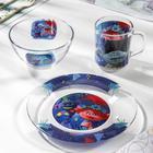 Набор посуды «Тролли 2. Техно», 3 предмета - фото 490191
