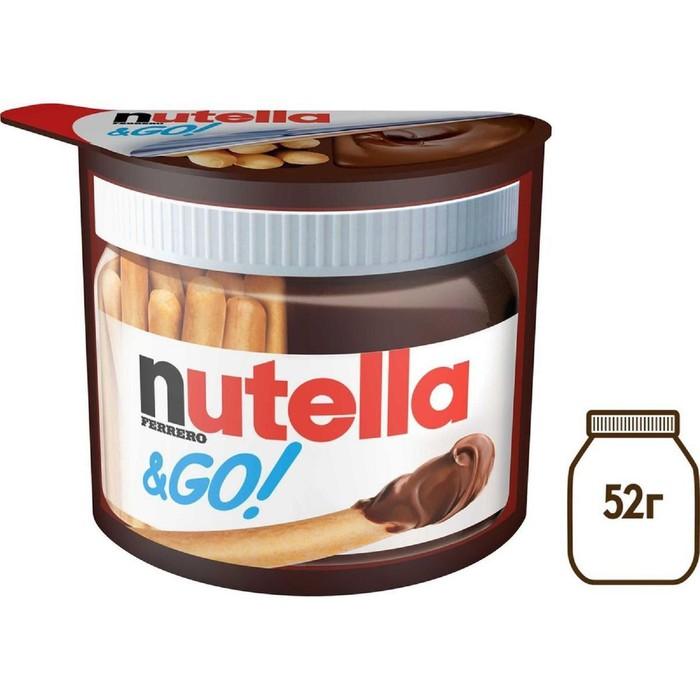 Паста шоколадно-ореховая NUTELLA&Go 52г+хлебные палочки - фото 23199