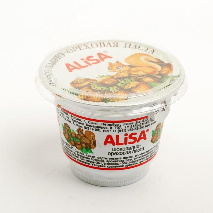 Паста шоколадно-ореховая АЛИСА 175г/пластик - фото 21836
