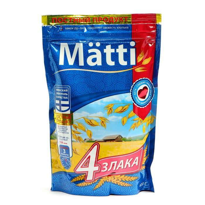Каша б/п Matti 4 злака 400г д/п - фото 16582