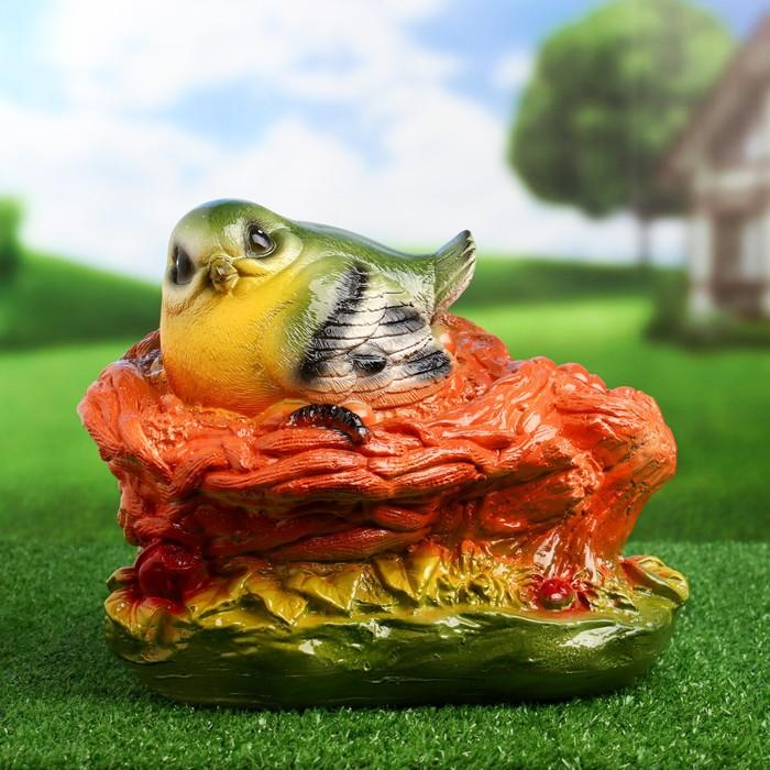 """Садовая фигура """"Птица в гнезде"""" 23х24см"""