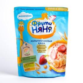 Каша ФРУТОНЯНЯ молочная мультизлаковая банан/кукуруза/клубника 200г