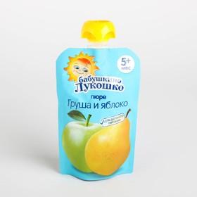 Пюре Бабушкино лукошко груша/яблоко 90г м/у