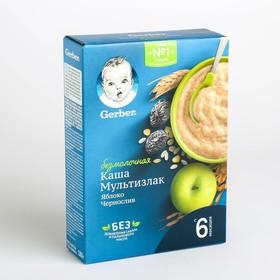 Каша GERBER безмолочная мультизлаковая чернослив/яблоко 180г