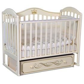 Кроватка «Кедр» Emily-2, универсальный маятник, ящик, цвет слоновая кость