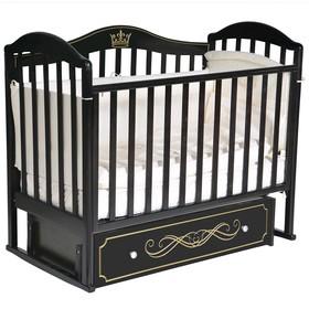 Кроватка «Кедр» Emily-2, универсальный маятник, ящик, цвет шоколад