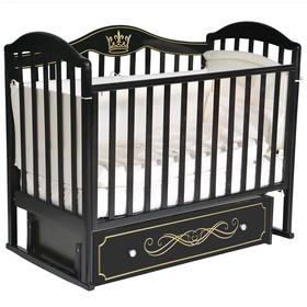 Кроватка «Кедр» Emily-3, универсальный маятник, ящик, цвет шоколад
