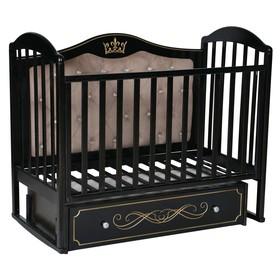 Кроватка «Кедр» Emily-4, универсальный маятник, ящик, цвет шоколад