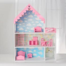 Кукольный дом «Джем» с обоями и набором мебели