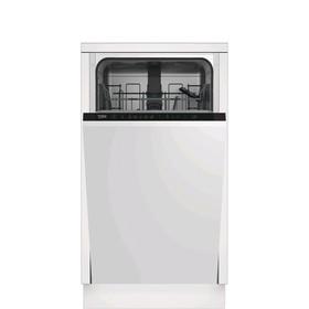 Посудомоечная машина Beko DIS15R12, встраиваемая, класс А, 10 комплектов, 10.5 л
