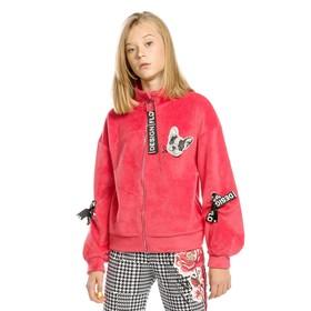 Куртка для девочек, рост 122 см, цвет красный