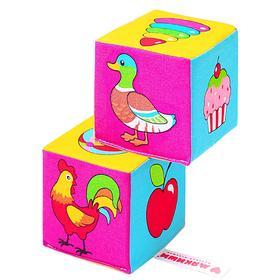 Набор мягких кубиков «Найди пару»