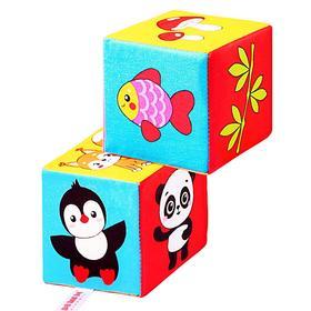 Набор мягких кубиков «Кто что ест», 2 штуки