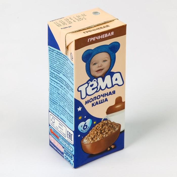 Кашка ТЕМА гречневая с пребиотиками 2,2% 206г т/п - фото 21926