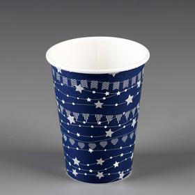 """Стакан """"Праздничный"""" синий, для горячих напитков 350 мл, диаметр 90 мм"""