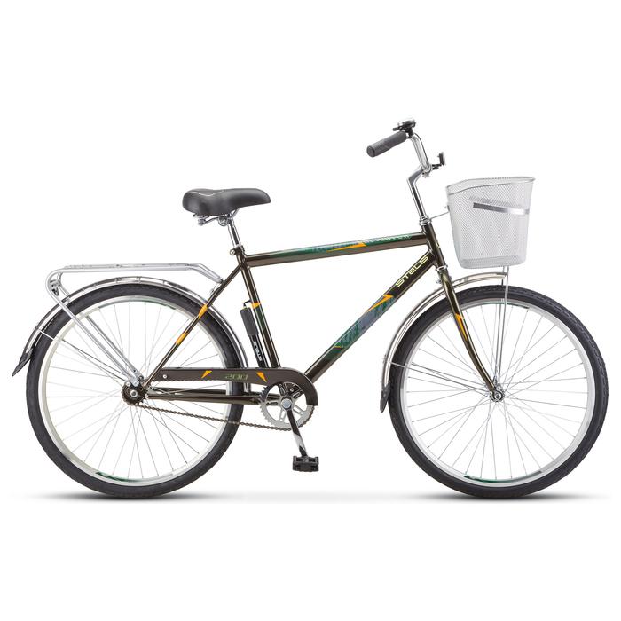 """Велосипед 26"""" Stels Navigator-200 Gent, Z010, цвет оливковый"""