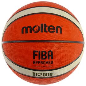 Мяч баскетбольный MOLTEN B6G2000, размер 6, 12 панелей, резина, бутиловая камера, нейлон