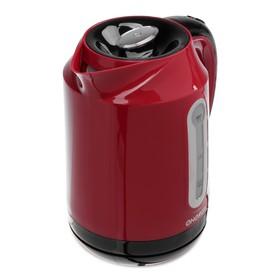 Чайник электрический ENERGY E-210, пластик, 1.7 л, 2200 Вт, красный