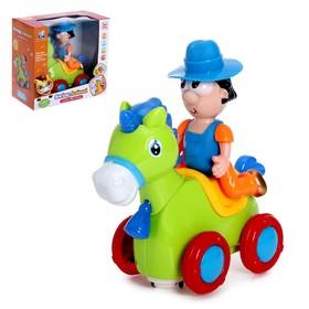 Игрушка музыкальная «Ковбой на лошадке», световые и звуковые эффекты, цвета МИКС