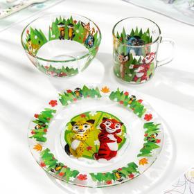 Набор посуды детский Priority «Лео и Тиг», 3 предмета