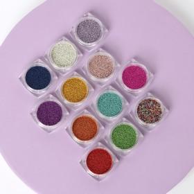 Beads nail art decoration, 12 bottles, MIX color