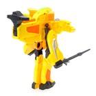 Робот «Бластер», трансформируется в робота, стреляет мягкими пулями, цвет жёлтый - фото 105503334