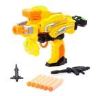 Робот «Бластер», трансформируется в робота, стреляет мягкими пулями, цвет жёлтый - фото 105503335