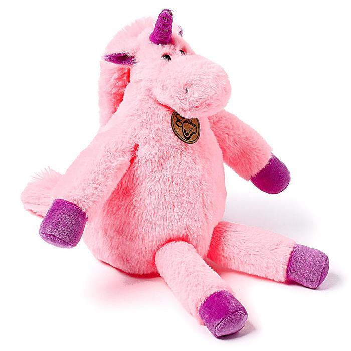 Мягкая игрушка «Единорог», 28 см, длинноногий, цвет розовый - фото 105612262
