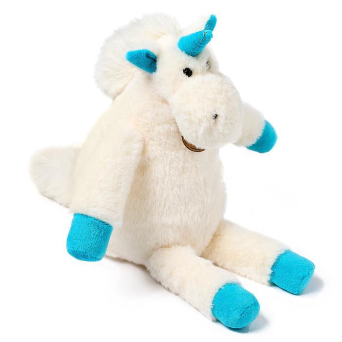 Мягкая игрушка «Единорог», 28 см, длинноногий, цвет молочный - фото 4471093