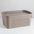 Ящик для хранения «Юнит», 8 л, цвет коричневый